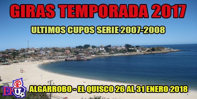 CUPOS DISPONIBLES GIRAS SERIE 2007-2008
